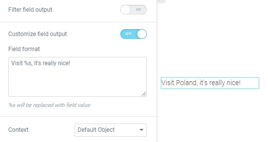 field output customization