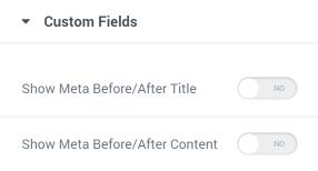 Meta fields toggle enabling