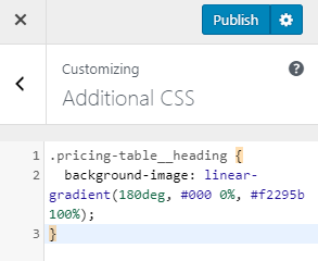 Additional CSS