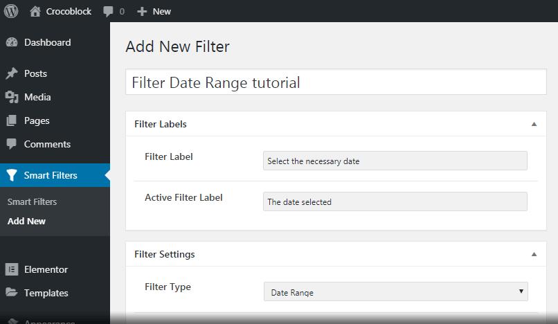 Date Range Title adding