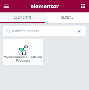WooCommerce Featured Product widget