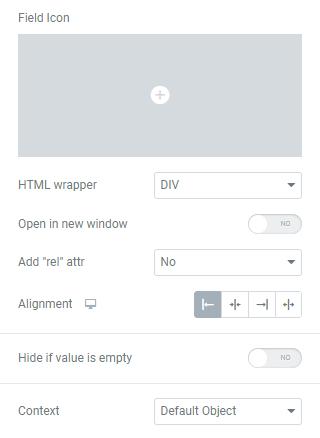 Dynamic link field icon