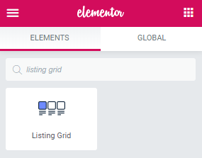 Listing Grid widget