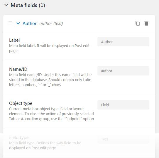 Meta Fields block