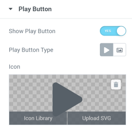 Play Button settings