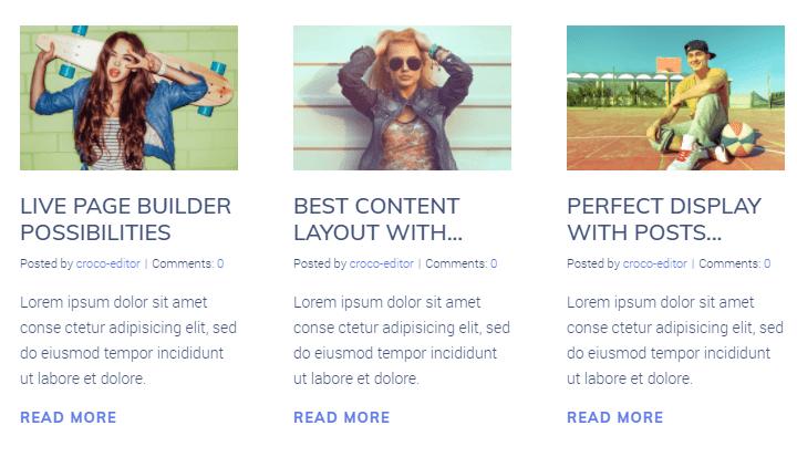 Posts design example