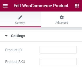 WooCommerce Product settings