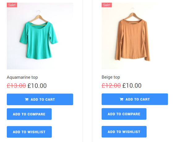 WooCommerce Sale Products front look