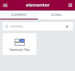 Taxonomy Tiles widget