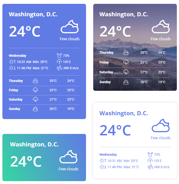 weather block examples