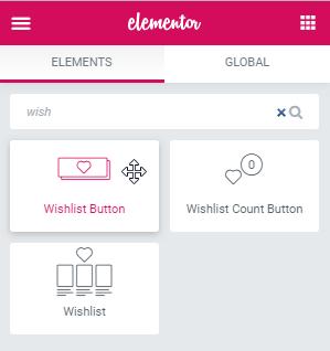 Wishlist Button widget