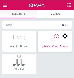Wishlist Count Button