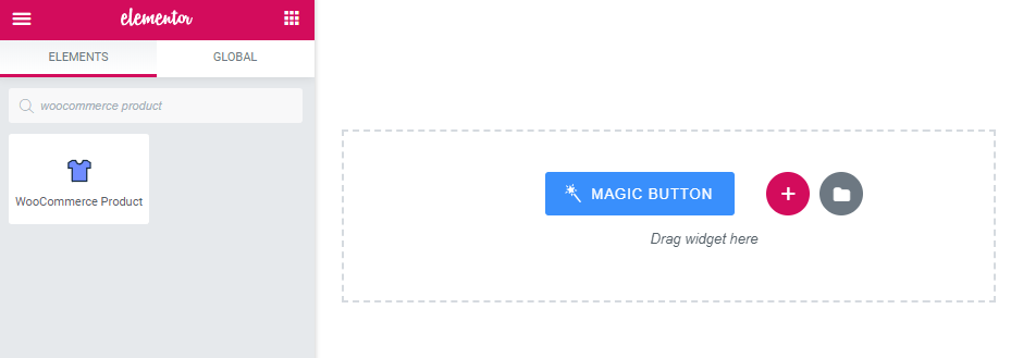 WooCommerce Product widget