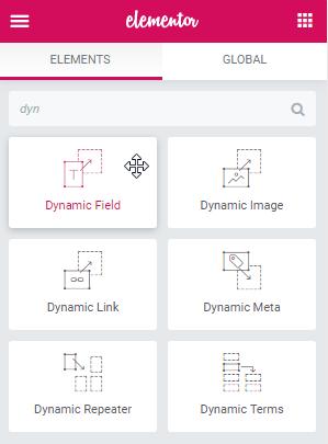 Dynamic Field widget for Elementor