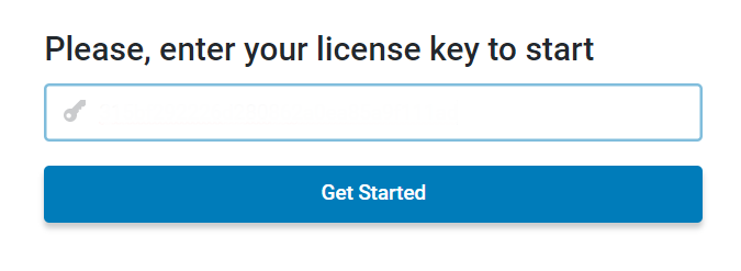 enter the license key