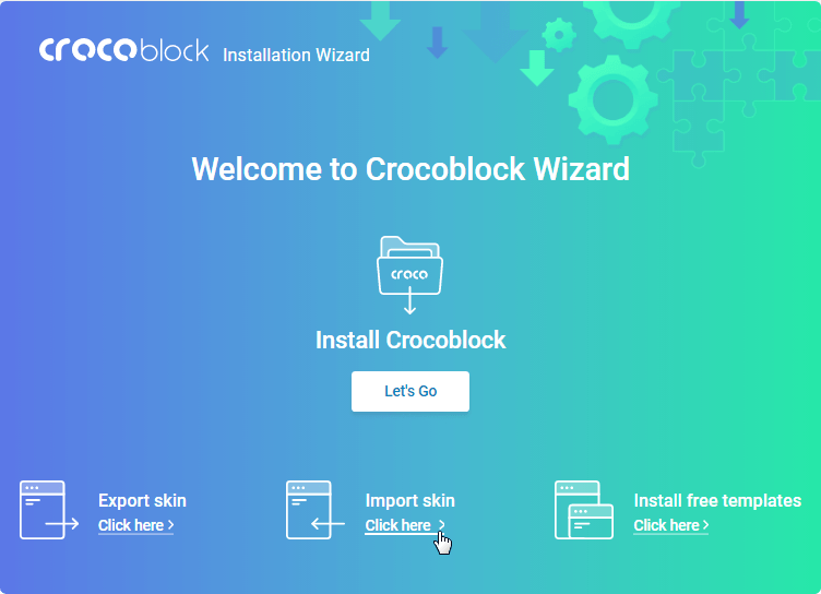 Crocoblock Wizard plugin start page