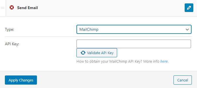 mailchimp notification type