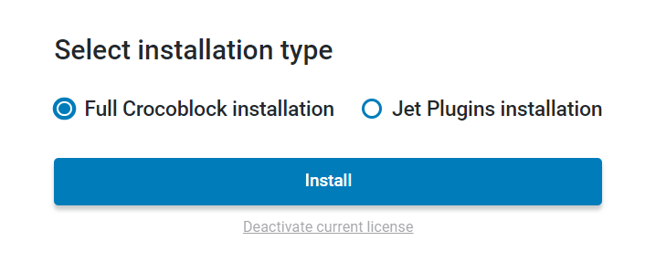 choose the crockoblock installation type