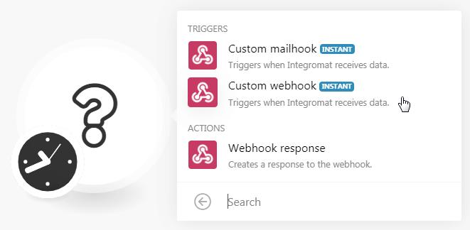 integromat webhooks settings