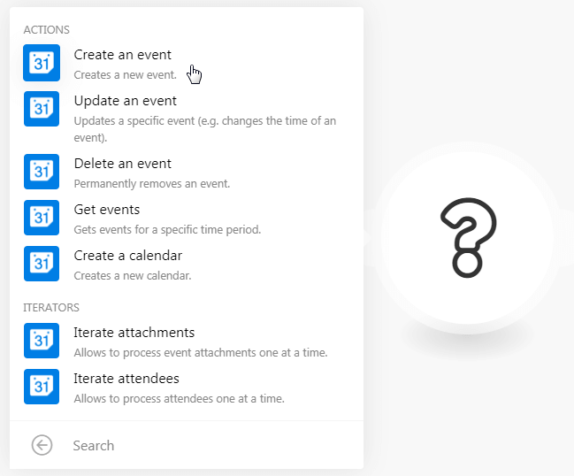 Create an event in Google Calendar