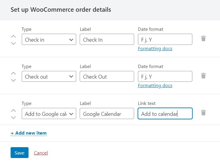 woocommerce order details window
