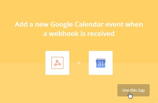 Webhook and Google Calendar relation
