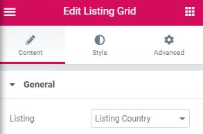 choose the listing