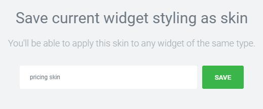 savinfg the skin