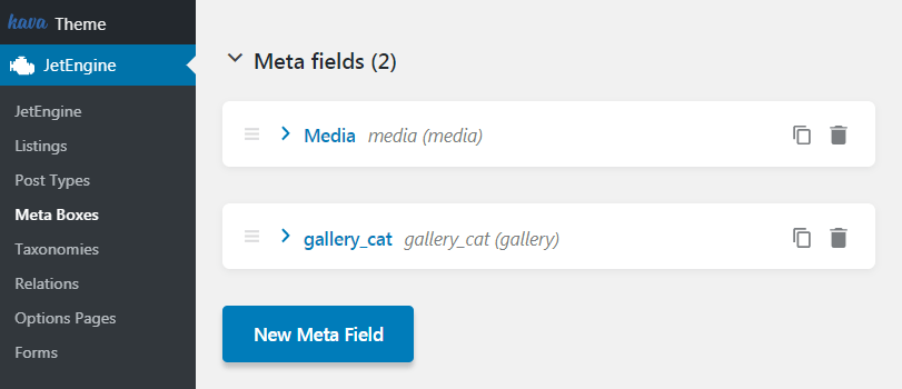 Meta fields for the product categories