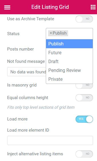 Listing Grid