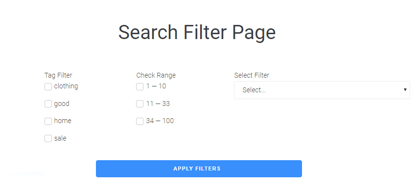 JetSmartFilters Search page