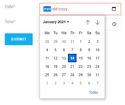 date field example