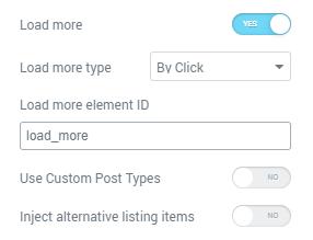 Load more ID field