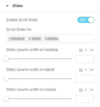 scroll slider