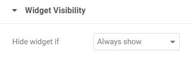 widget visibility