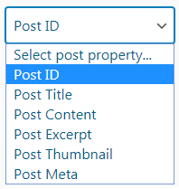properties dropdown list