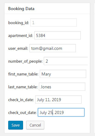 Booking Data