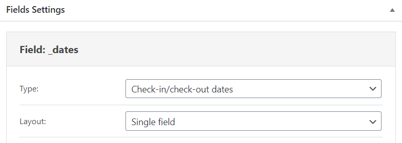 Check-in/Check-out form field