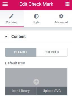 checkmark widget