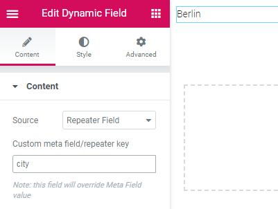 dynamic field
