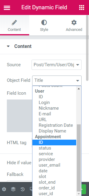 appointment id