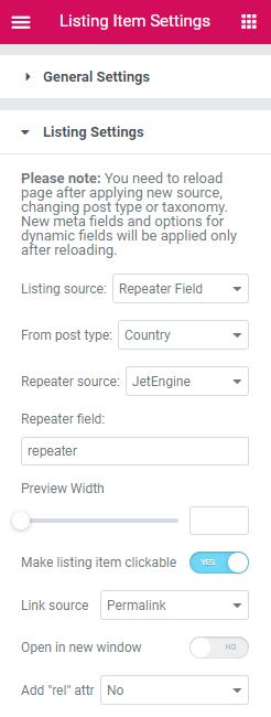 listing setup