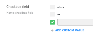 new checkbox