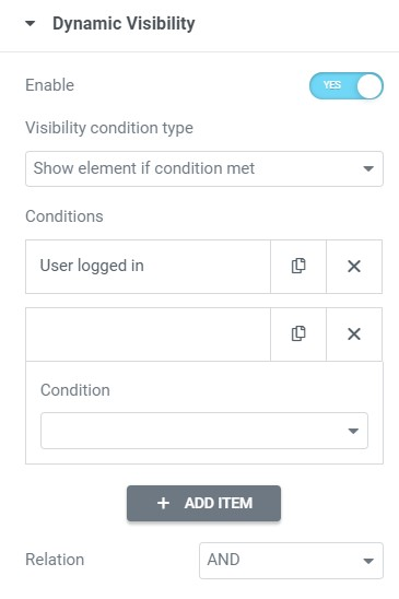 add condition