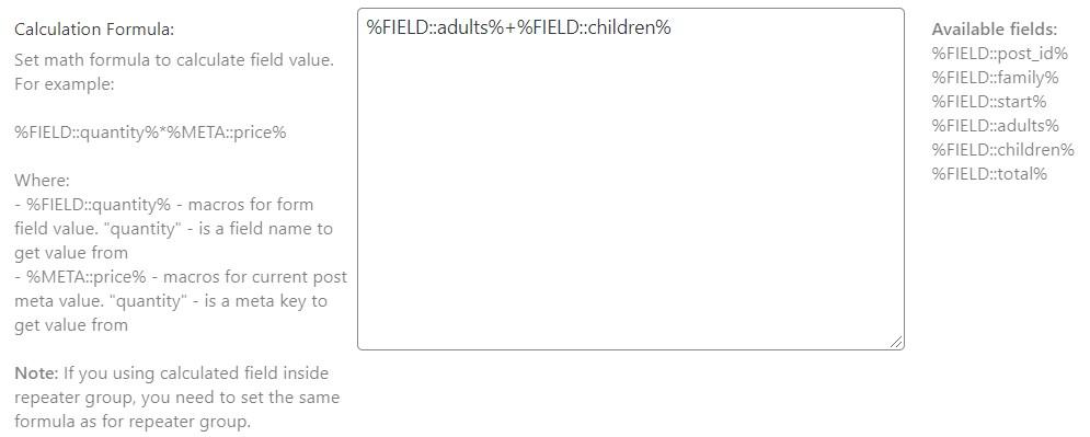 calculated field formula