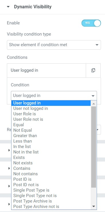 conditions list