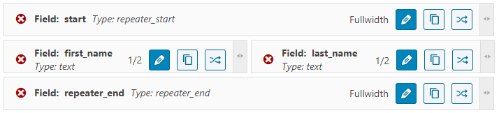 repeater fields group