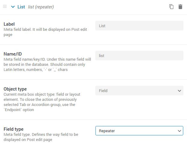 repeater meta field settings