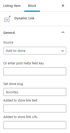 add to store dynamic link
