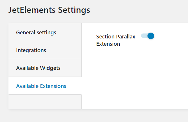 JetElements section parallax extension enabling